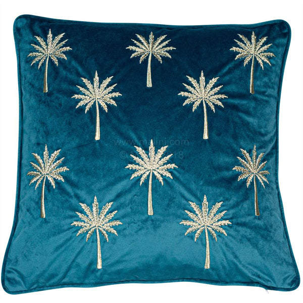 Samburu Palm Cushion Filled Teal
