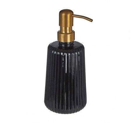 Black Glass Lotion Dispenser
