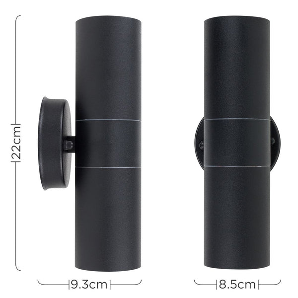 Double-Ended Wall Light Black