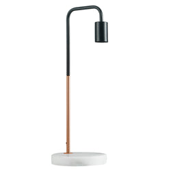 Marble Pipe Table Lamp Copper