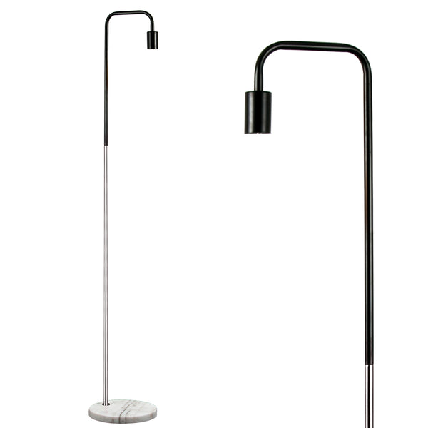 Marble Pipe Floor Lamp Chrome