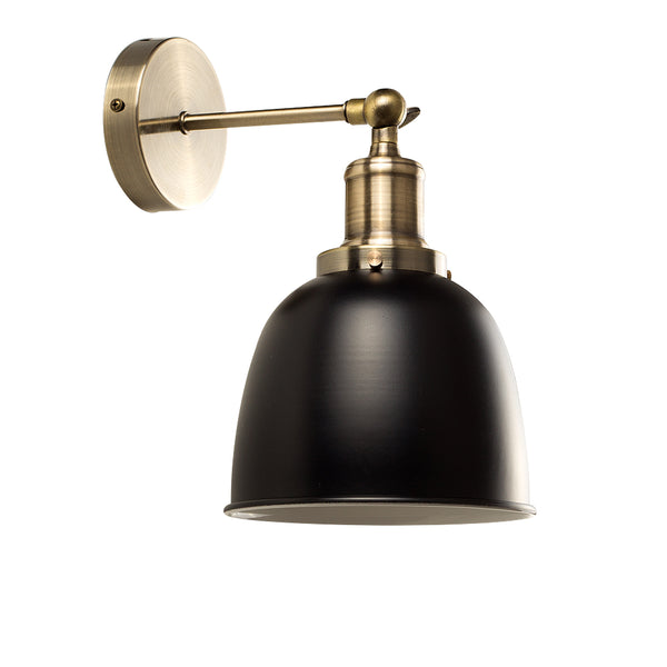 Vintage Glam Wall Light Black