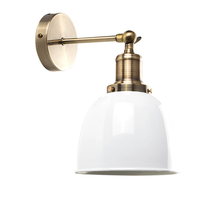 Vintage Glam Wall Light White