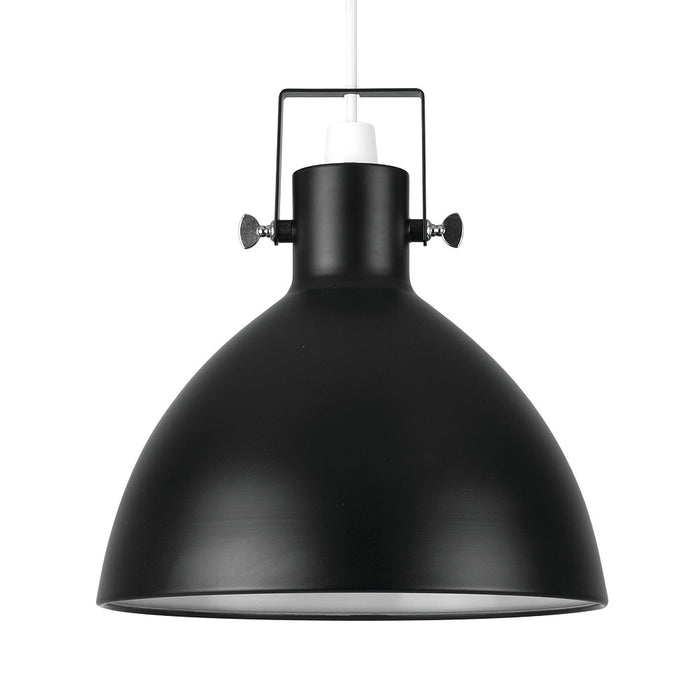 Industrial Dome Pendant Black