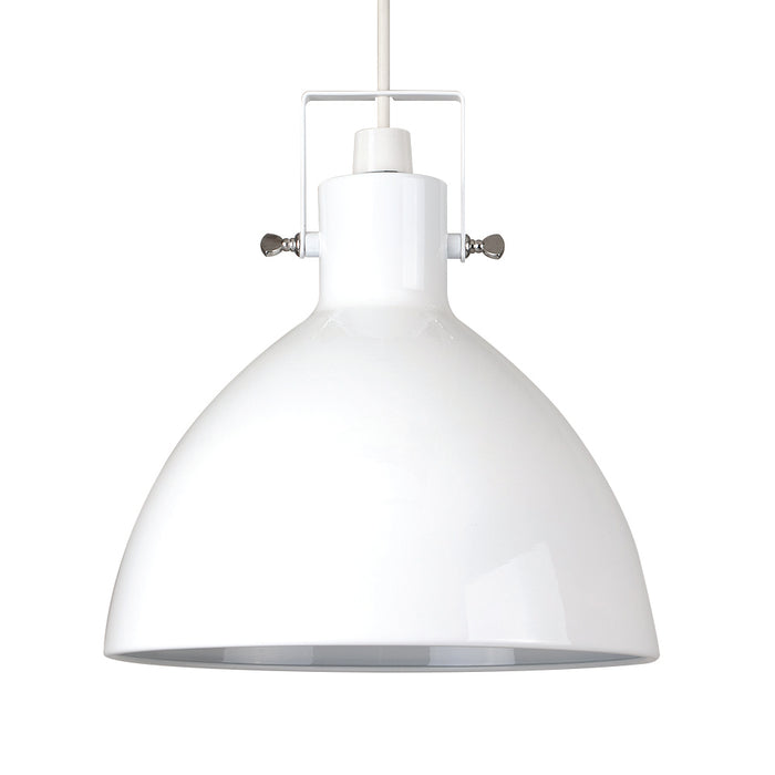 Industrial Dome Pendant White