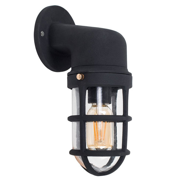 Fisherman Black Bulkhead Wall Light