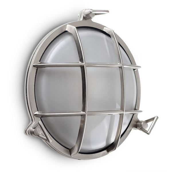 Round Chrome Bulkhead Wall Light
