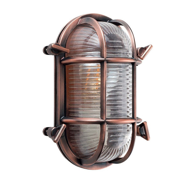 Copper Bulkhead Wall Light