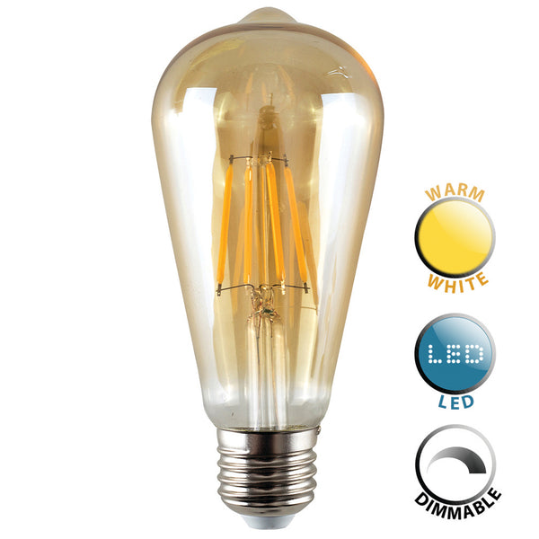 Teardrop Bulb Screw Dimmable E27