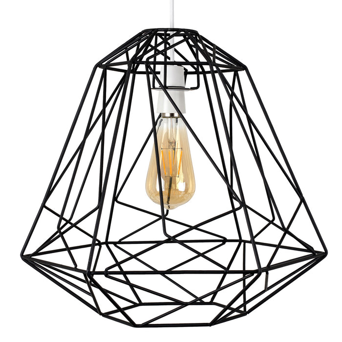 Geometric Cage Shade Black