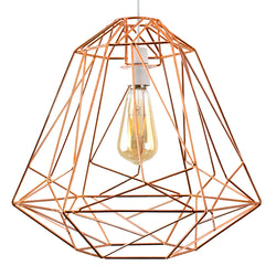 Geometric Cage Shade Copper