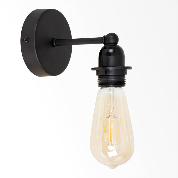 Black Pipe Wall Light 1