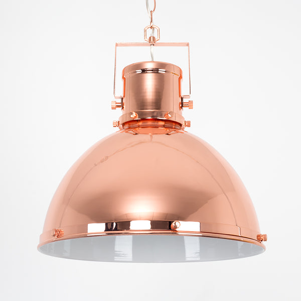 Industrial Copper Dome Pendant