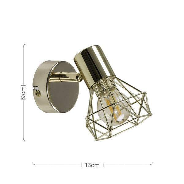 Brass Cage Wall Light