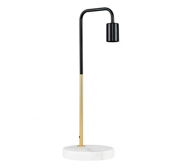 Marble Pipe Table Lamp Gold