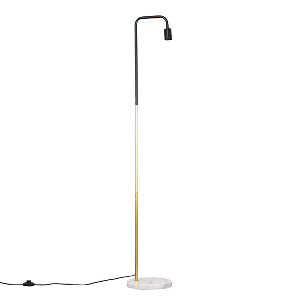 Marble Pipe Floor Lamp Gold Black
