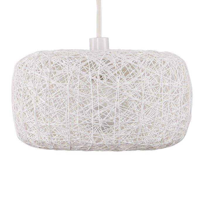 White Rattan Nest Shade