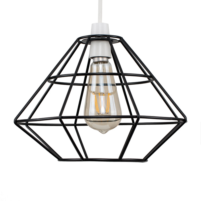 Geo Diamond Shade Black