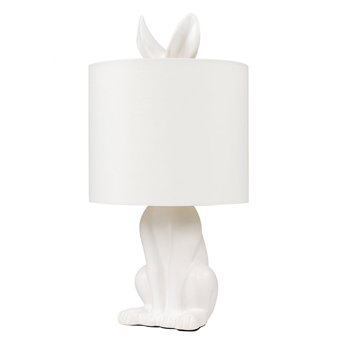 Rabbit Table Lamp White