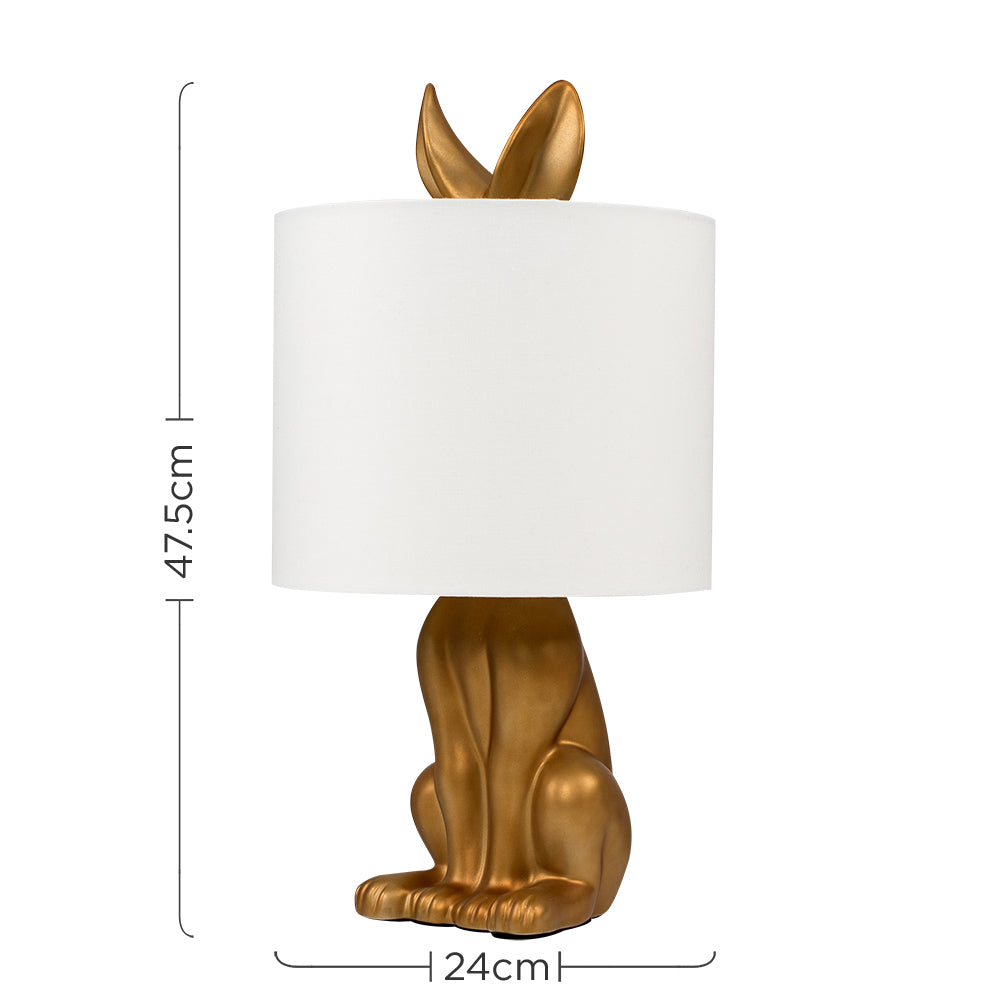 Rabbit Table Lamp Gold
