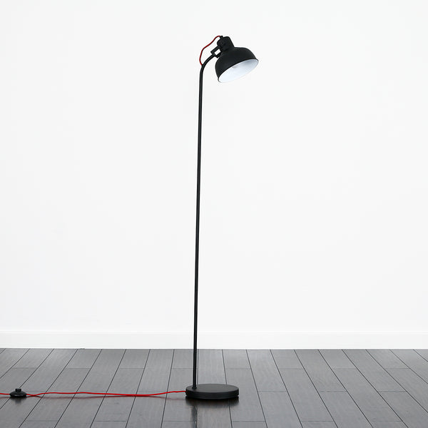Curve Flex Matt Black Floor Lamp