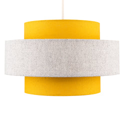 Mustard Grey Fabric Shade