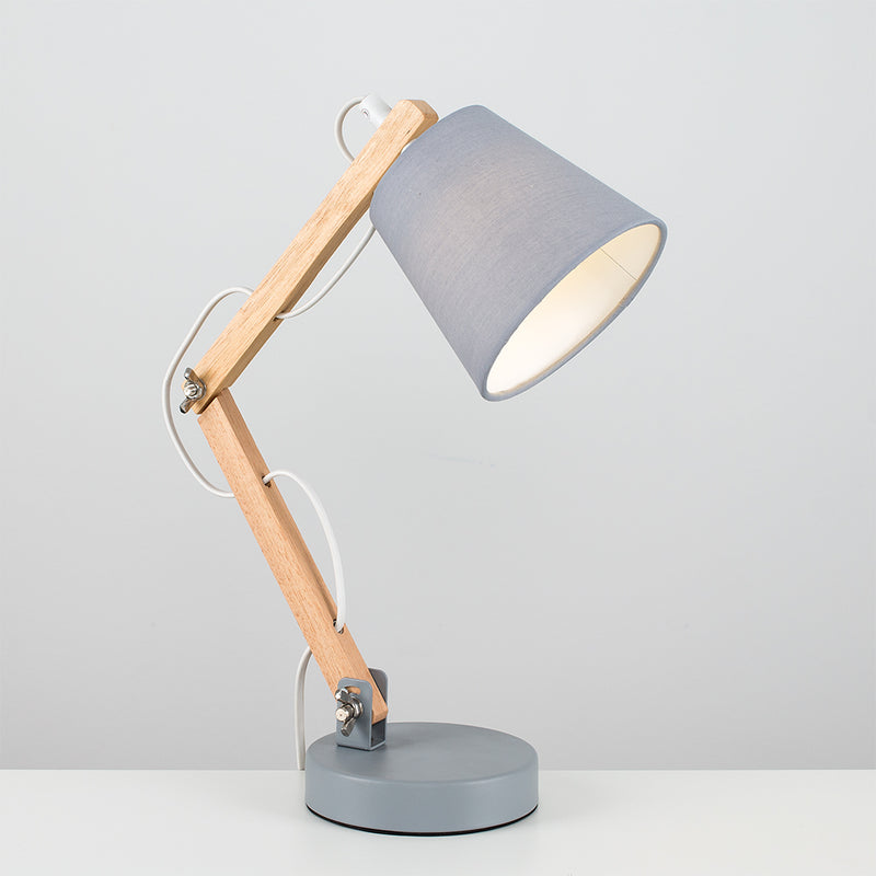 Flex Wood Table Lamp Grey