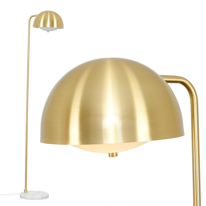Marble Deco Brass Floor Lamp