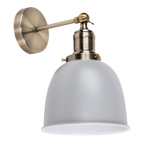 Vintage Glam Wall Light Grey