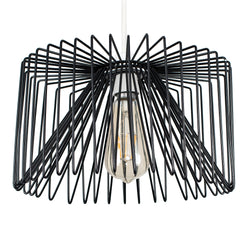 Wire Cage Shade Black