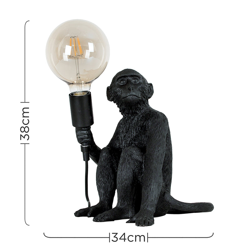 Monkey Table Lamp Black