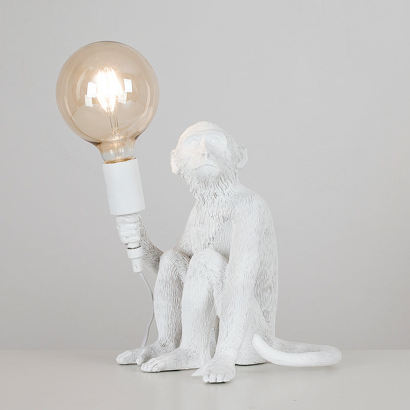 Monkey Table Lamp White