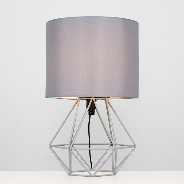 Geo Belly Table Lamp Grey