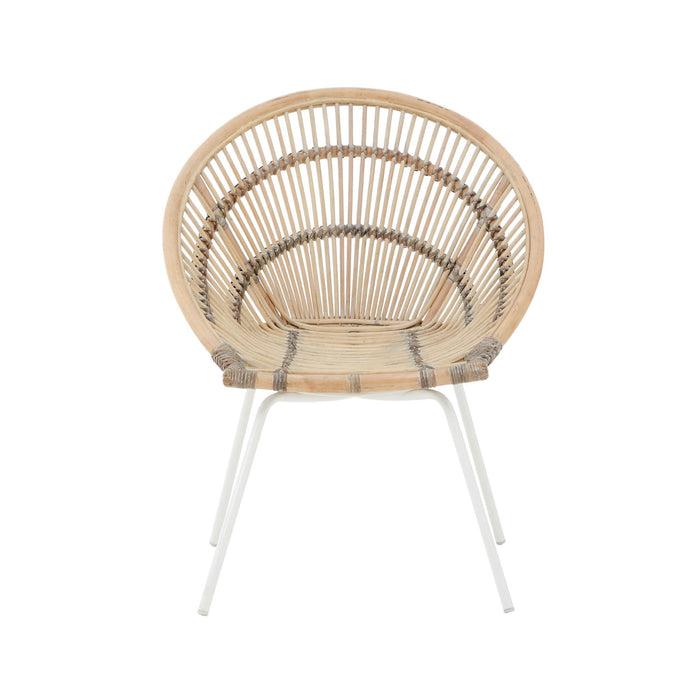 Curved Rattan Chair