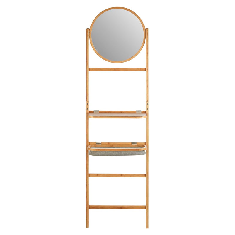Bamboo Mirror Wall Stand