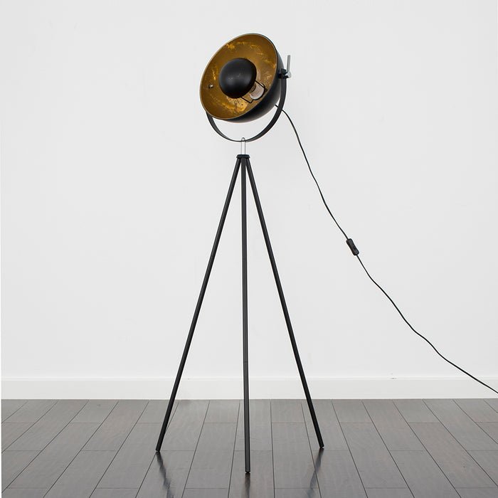 Golden Tripod Floor Lamp