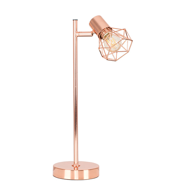 Copper Cage Table Lamp