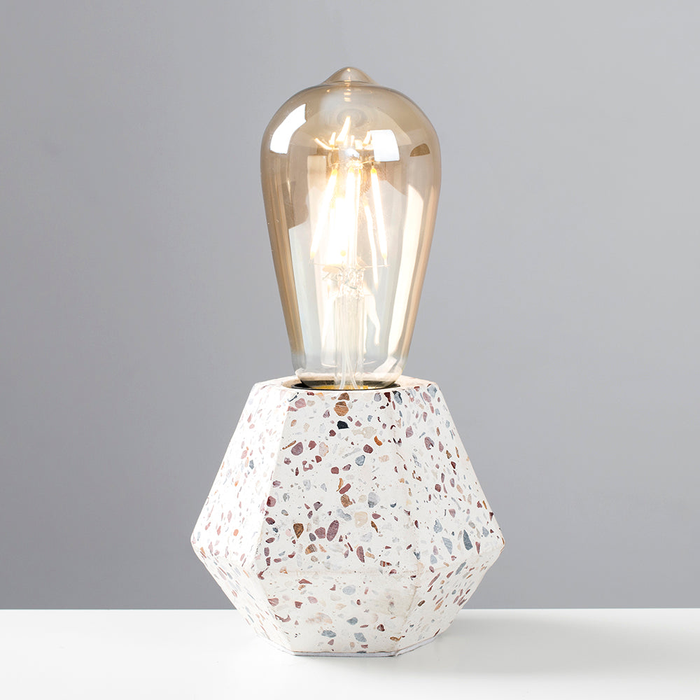 Speckled Block Table Lamp