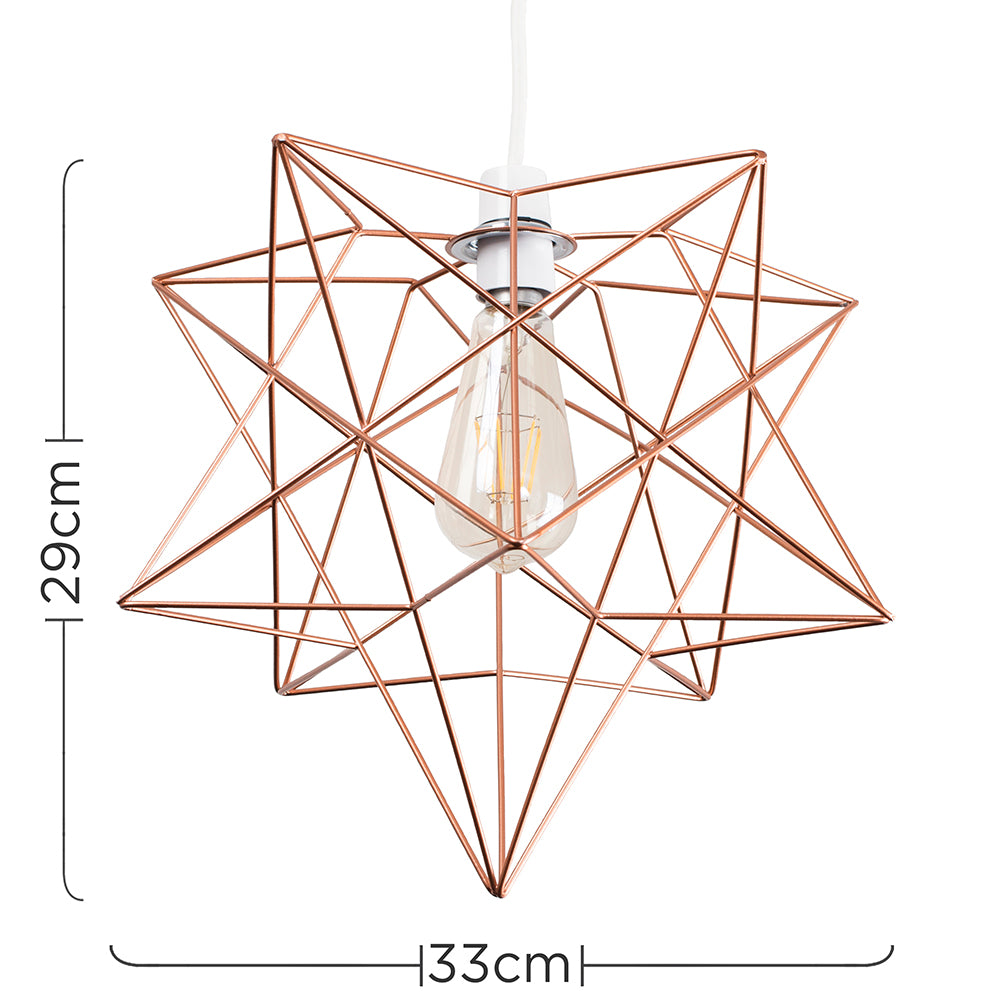 Star Geo Cage Shade Copper