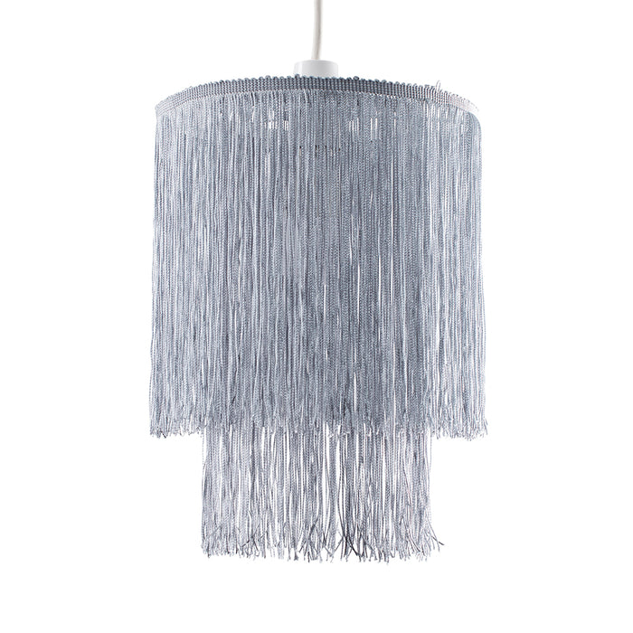 Tassel Fringe Shade Grey