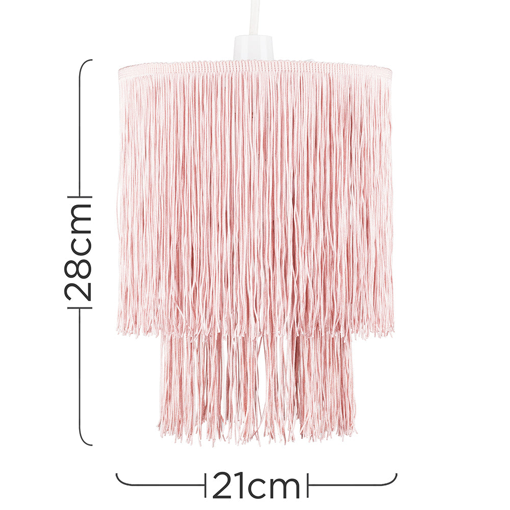 Tassel Fringe Shade Blush