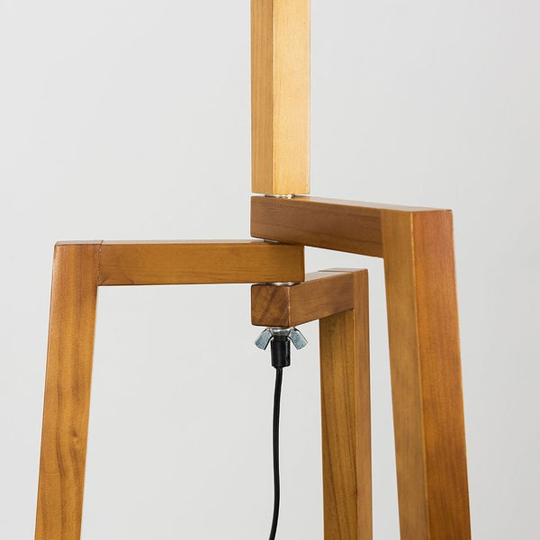 Modern Tripod Floor Lamp Light Wood