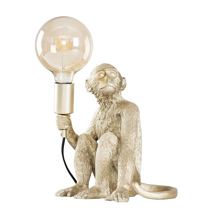 Monkey Table Lamp Champagne Silver
