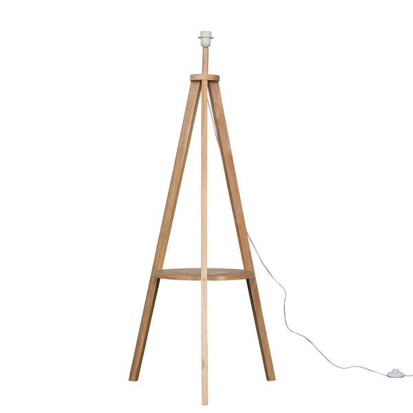 Shelf Tripod Floor Lamp Natural