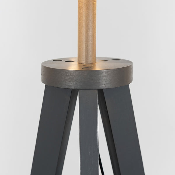 Shelf Tripod Floor Lamp Grey