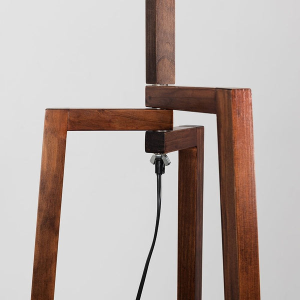 Modern Tripod Floor Lamp Dark Wood