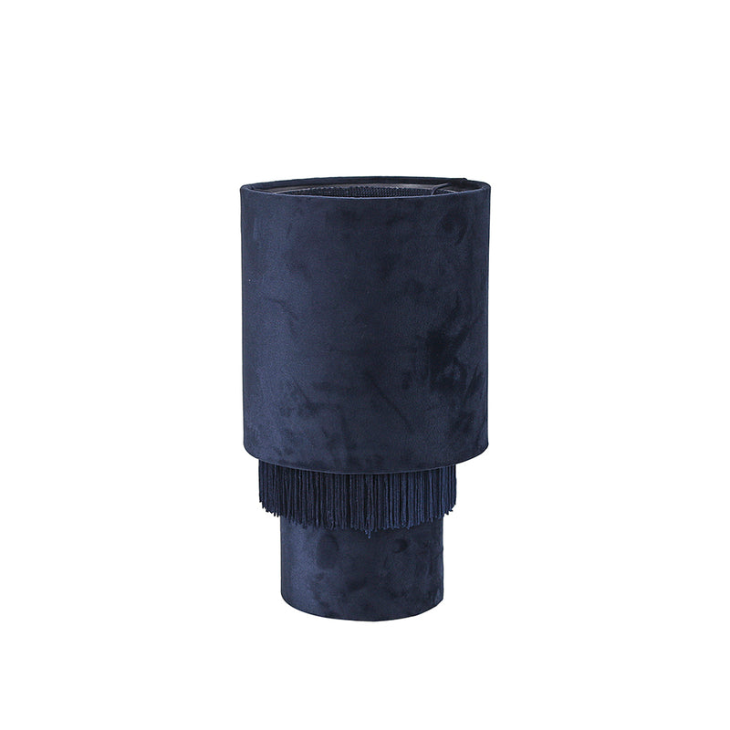 Velvet Tassel Table Lamp Navy