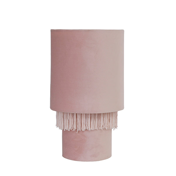 Velvet Tassel Table Lamp Blush