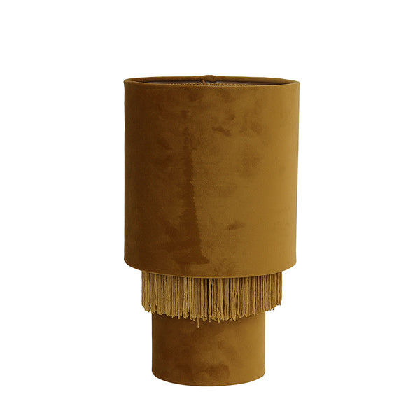 Velvet Tassel Table Lamp Mustard