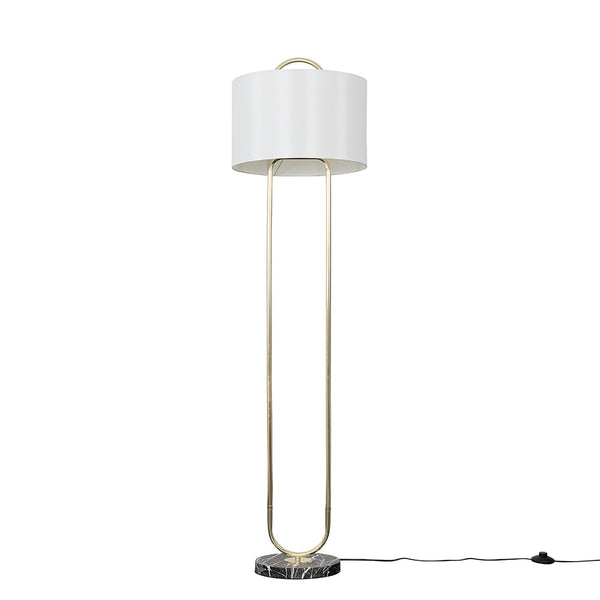 Laurel Marble Floor Lamp Gold